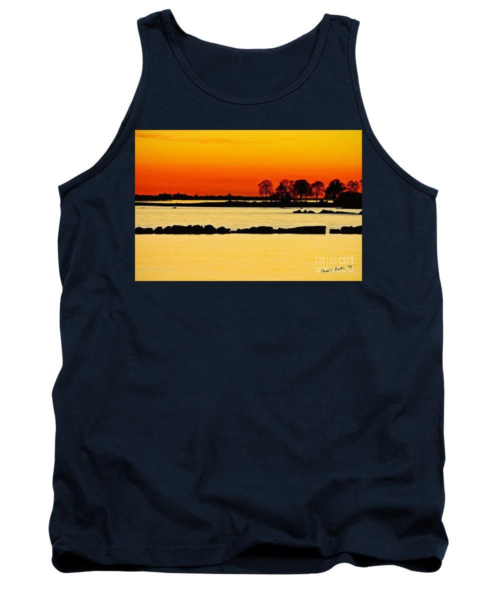 Sunset Tank Top featuring the photograph Orange Sunset by Carol F Austin