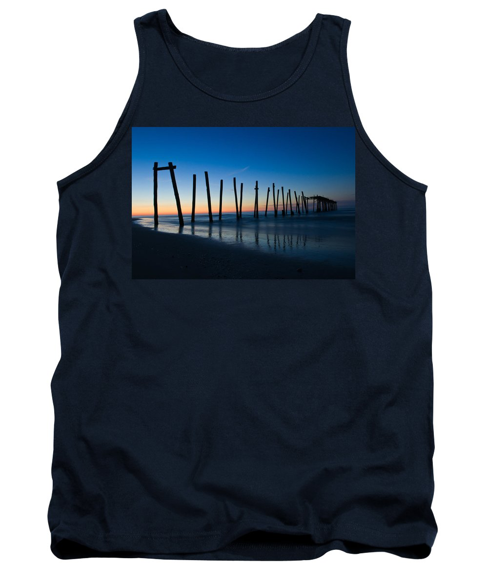 New Jersey Tank Top featuring the photograph Old Broken 59th Street Pier by Louis Dallara