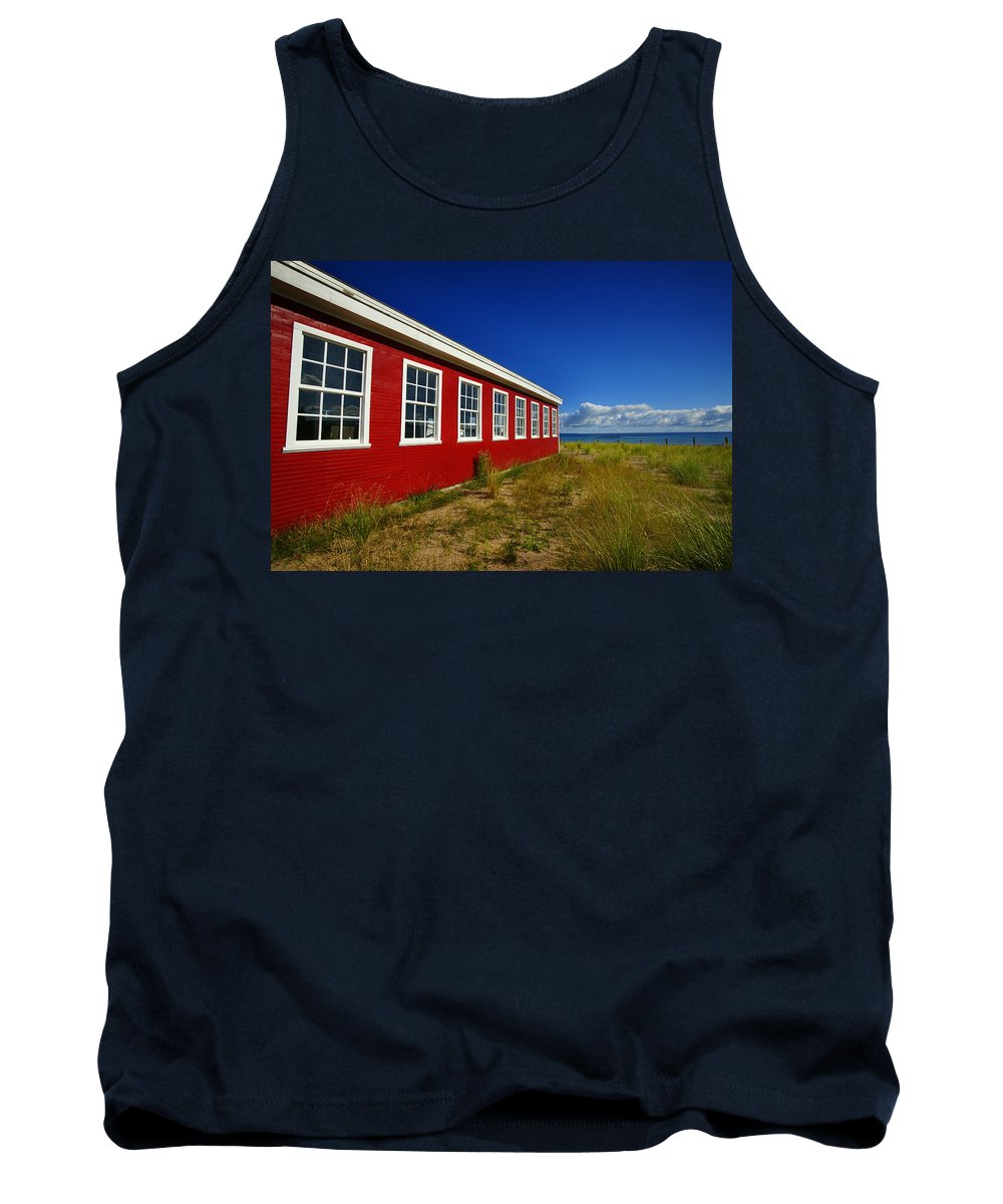 Cannery Tank Top featuring the photograph Old Cannery Building by Jamieson Brown