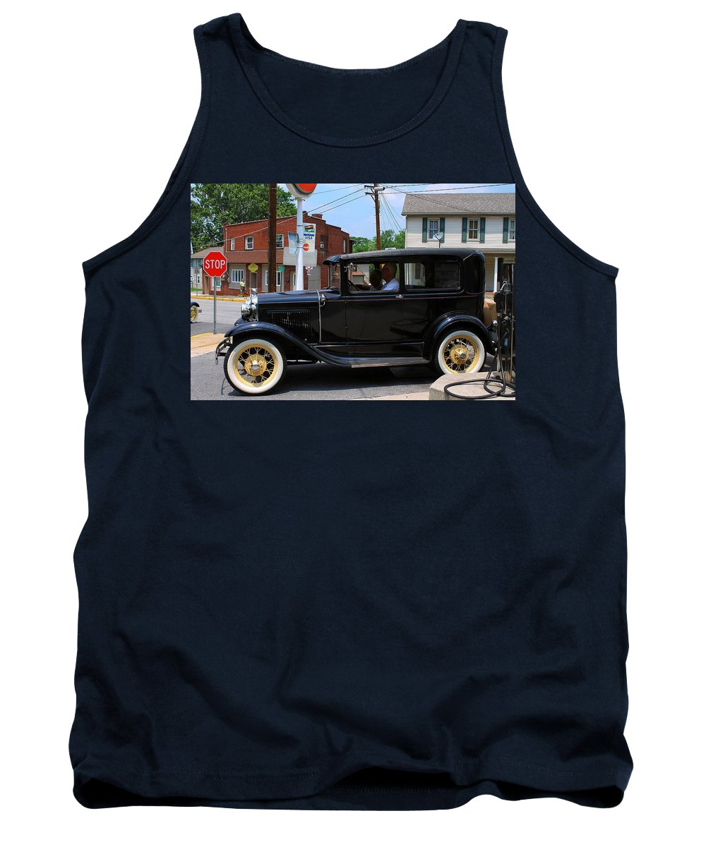 Old Tank Top featuring the photograph Old Car by Karl Rose
