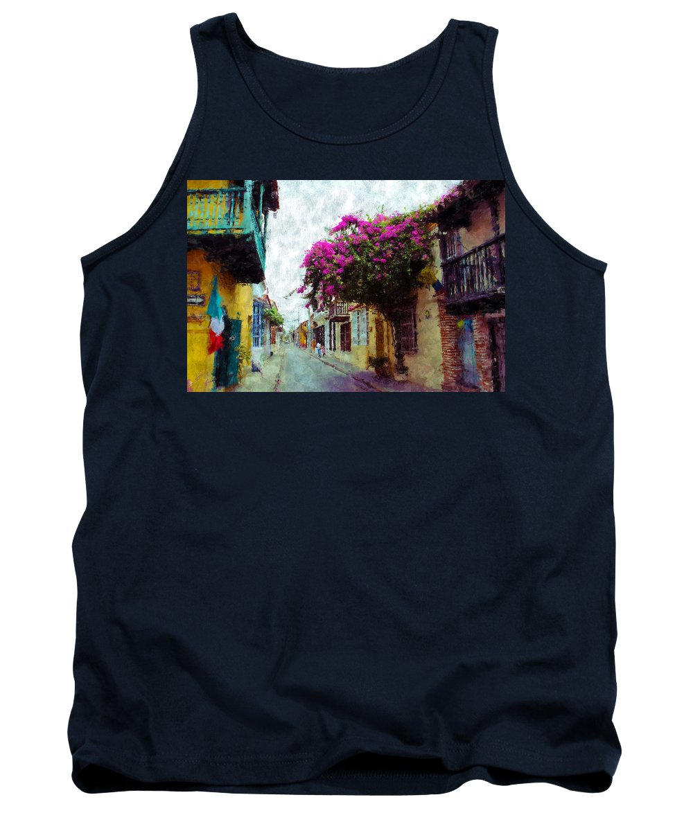Cartagena Tank Top featuring the photograph Old Cartagena 2 by Kurt Van Wagner