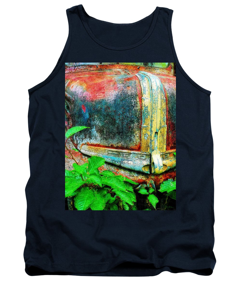 Old Tank Top featuring the painting Old Ford #1 by Sandy MacGowan