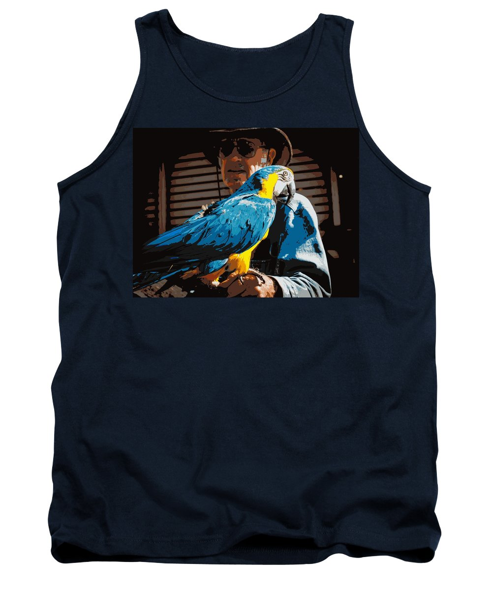 Bird Tank Top featuring the photograph Old Man And His Bird by Cathy Smith