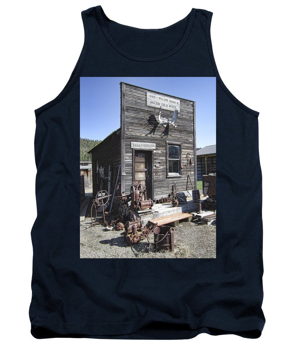 Gold Tank Top featuring the photograph Old Molson Ghost Town Assay Office by Daniel Hagerman