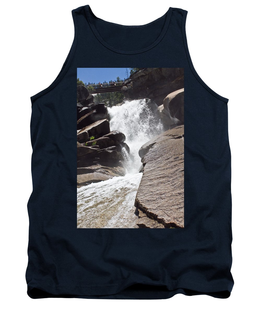 Water Tank Top featuring the photograph Old Wood Bridge by Brian Williamson