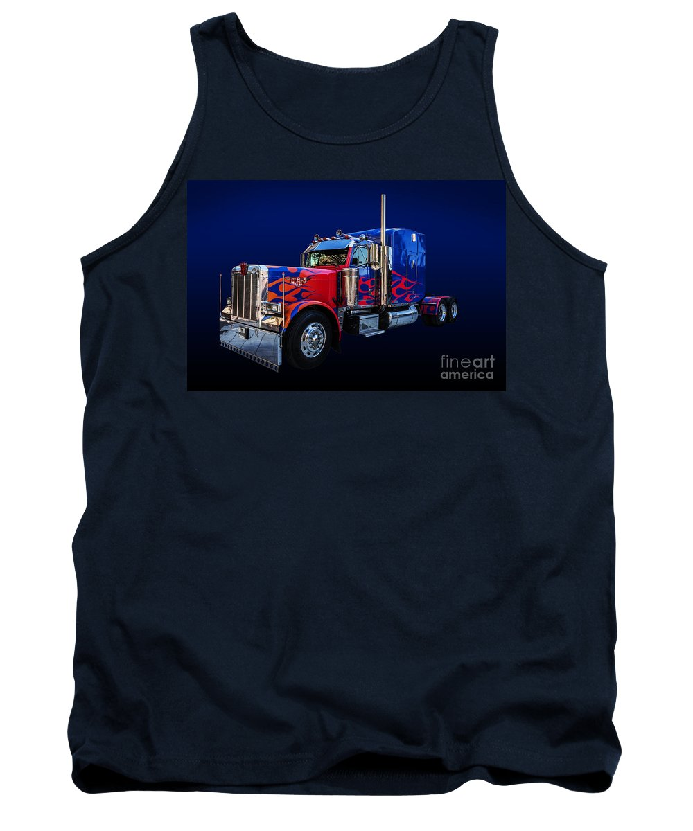 Optimus Prime Tank Top featuring the photograph Optimus Prime Blue by Steve Purnell