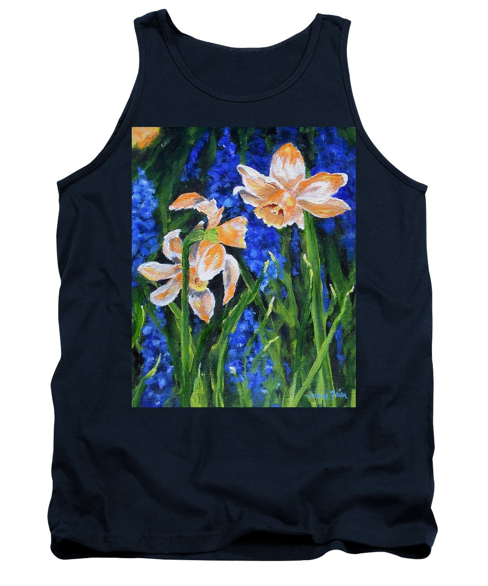 Flowers Tank Top featuring the painting Orange Daffs by Jamie Frier