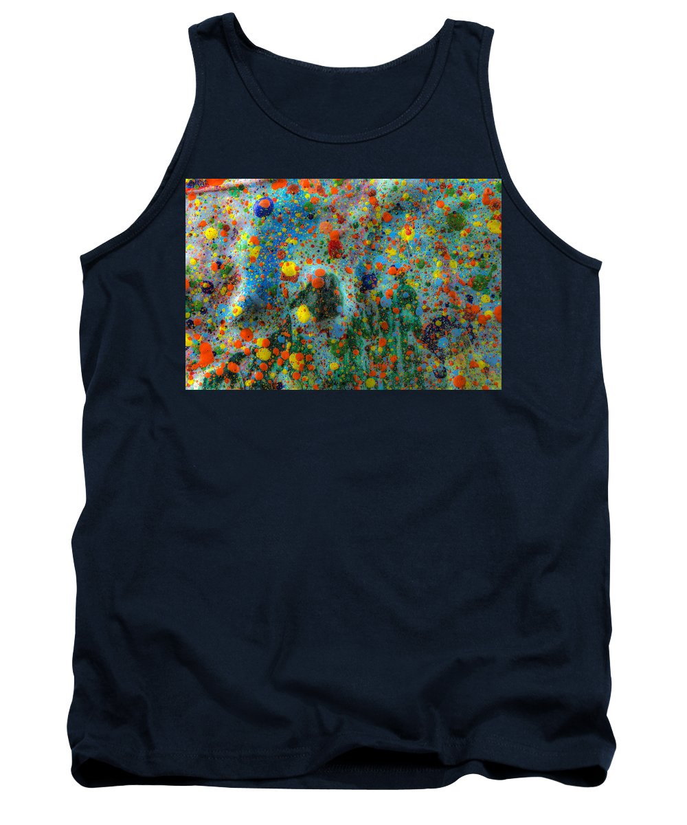 Abstract Tank Top featuring the painting Over The Mountain by Sean Corcoran