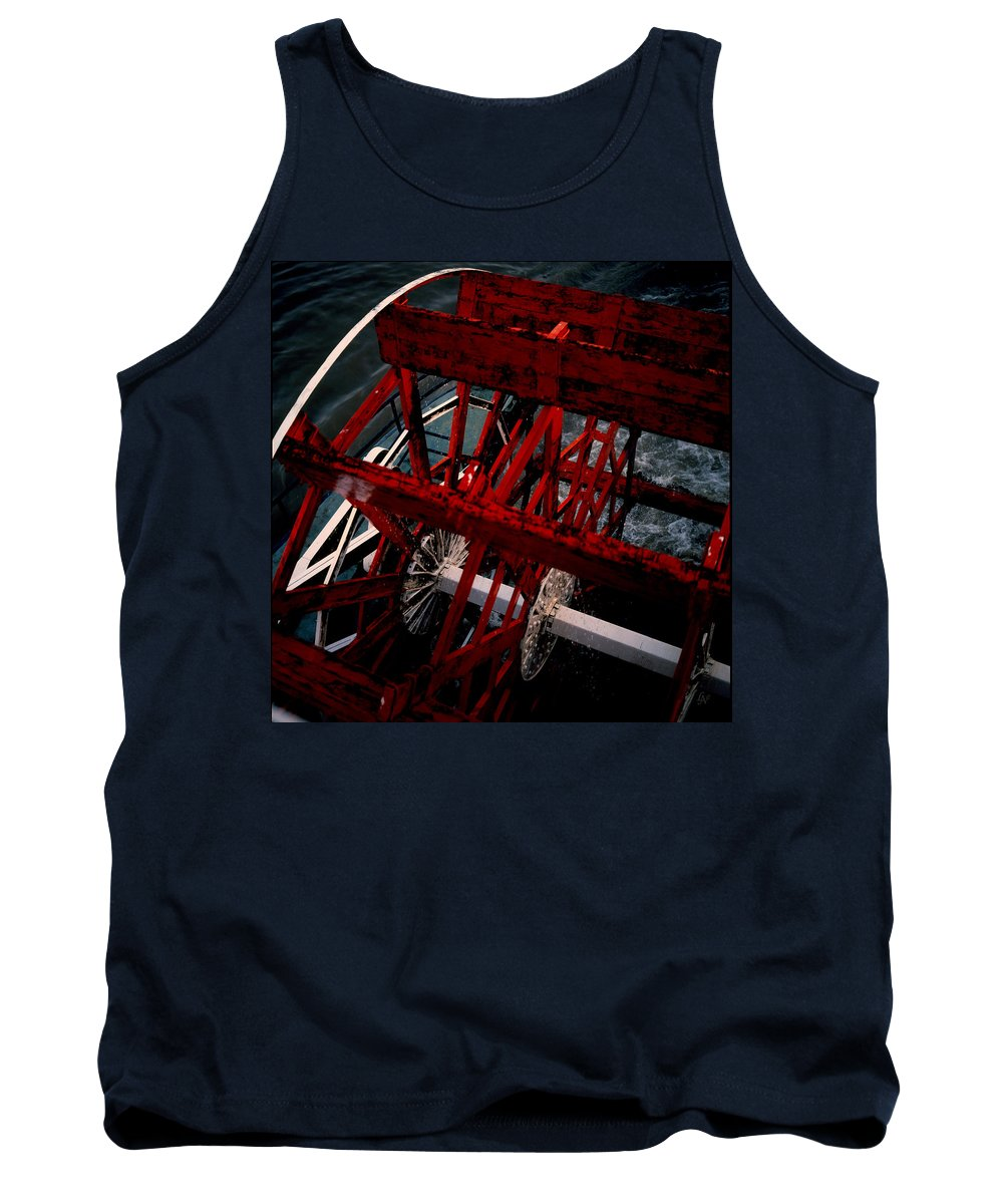Boat Tank Top featuring the photograph Paddlewheel by Lee Newell