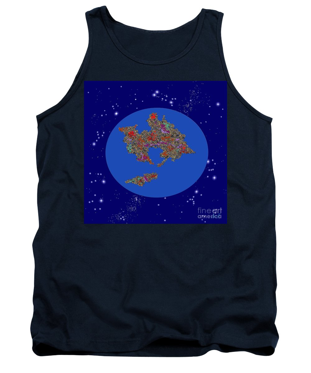 Continents In Collision Tank Top featuring the digital art Pangea Ultima by Dragica Micki Fortuna