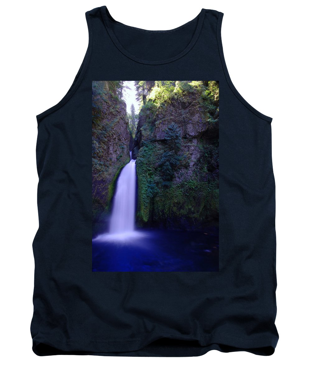 Waterfalls Tank Top featuring the photograph Paradise Pours Wanclella Falls Oregon by Jeff Swan