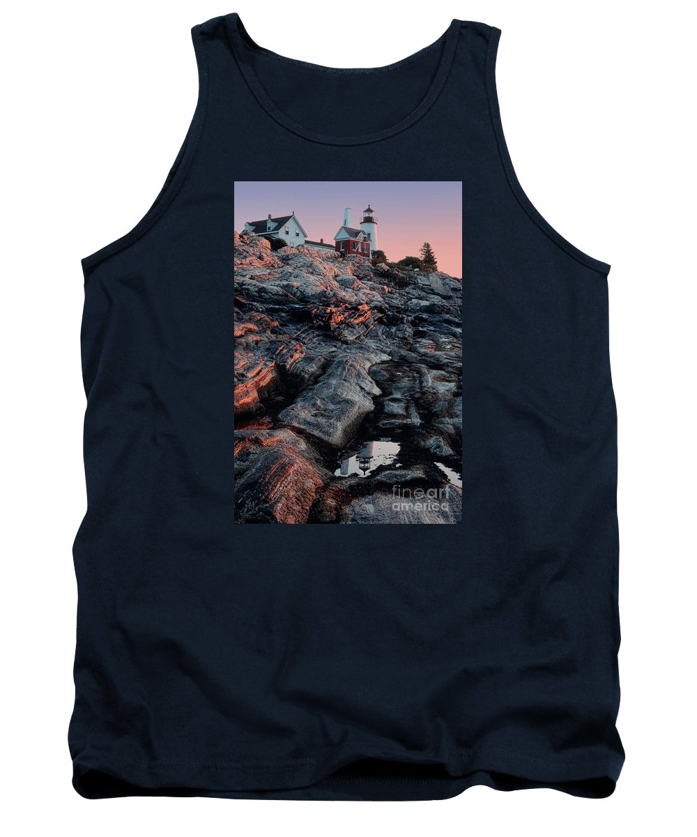 Atlantic Tank Top featuring the photograph Pemaquid In Early Morning Light by Jerry Fornarotto