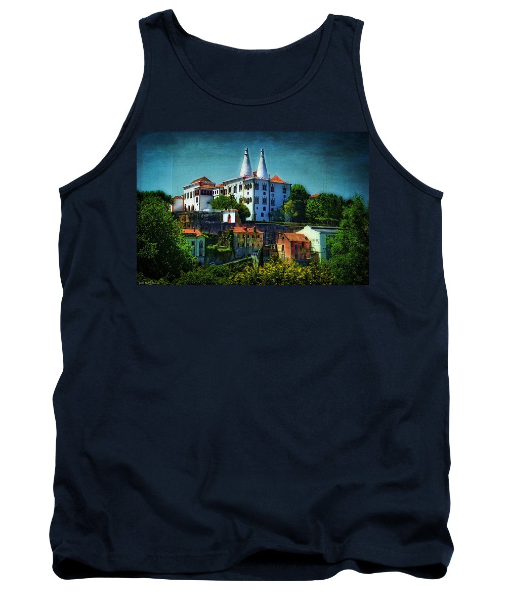 Landscape Tank Top featuring the photograph Pena National Palace - Sintra by Mary Machare