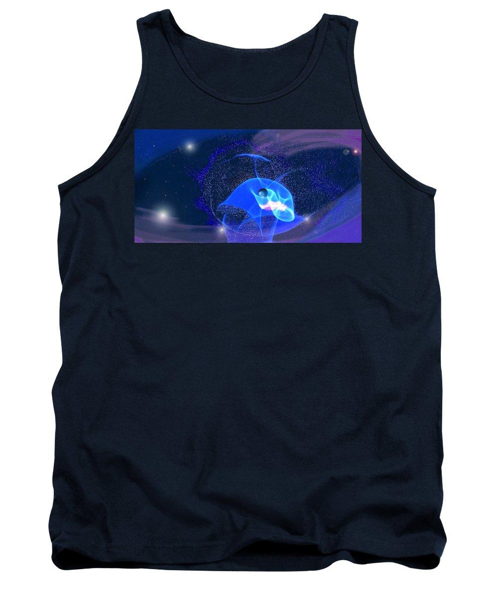 Space Tank Top featuring the digital art Phenomenon II by Steve Karol