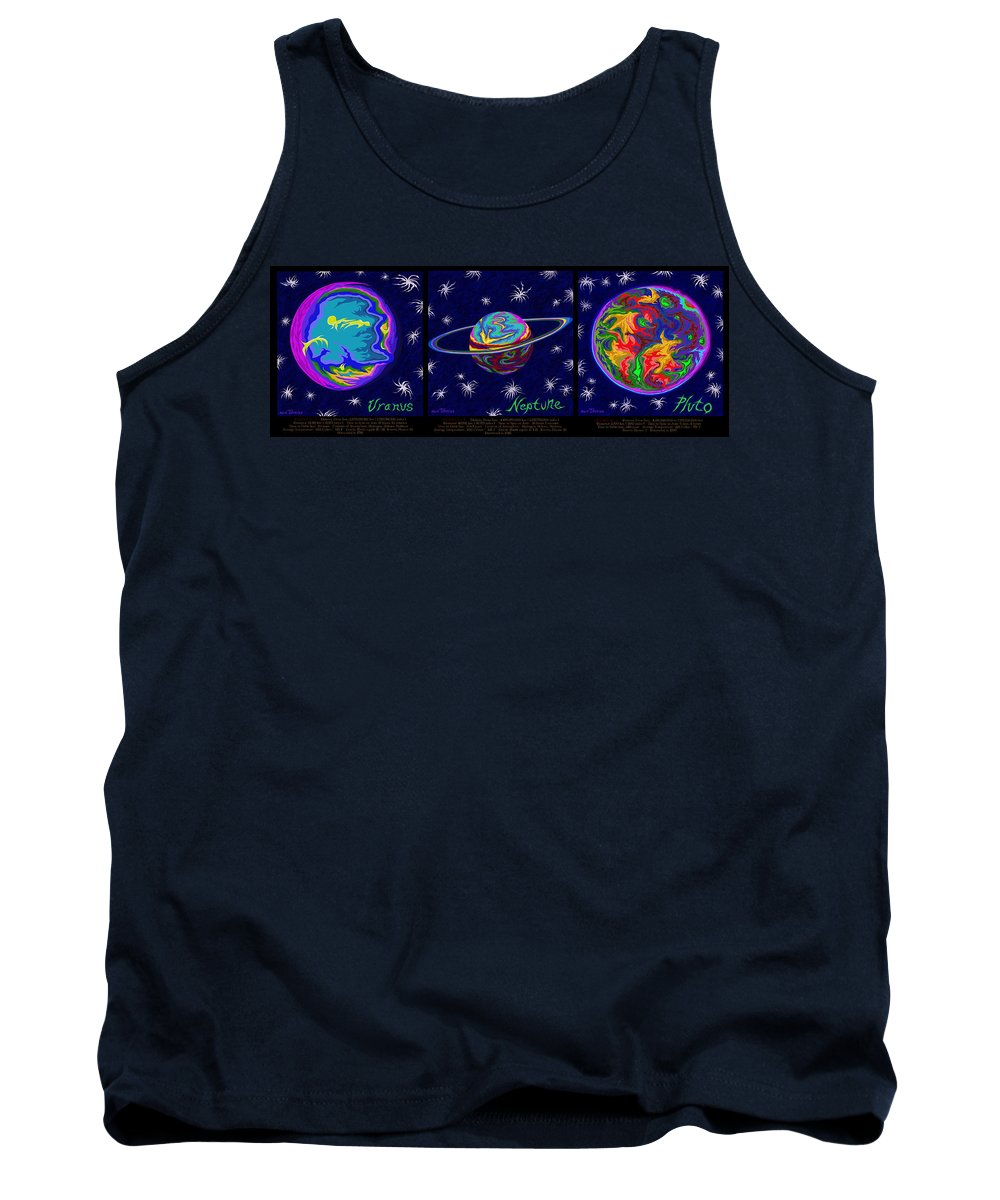 Solar System Tank Top featuring the painting Planets 7 8 9 - Science by Robert SORENSEN