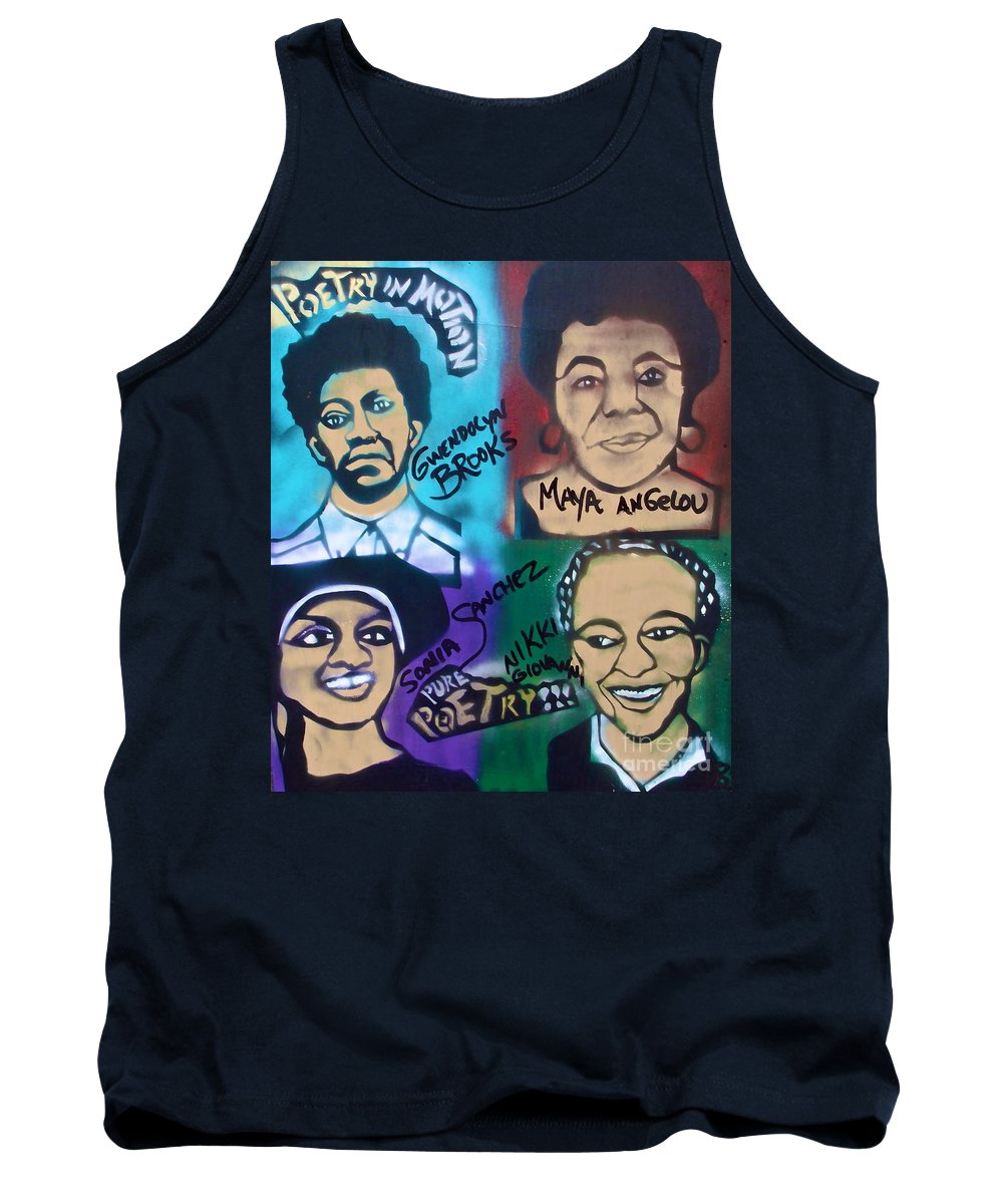 Gwendolyn Brooks Tank Top featuring the painting Poetry In Motion by Tony B Conscious