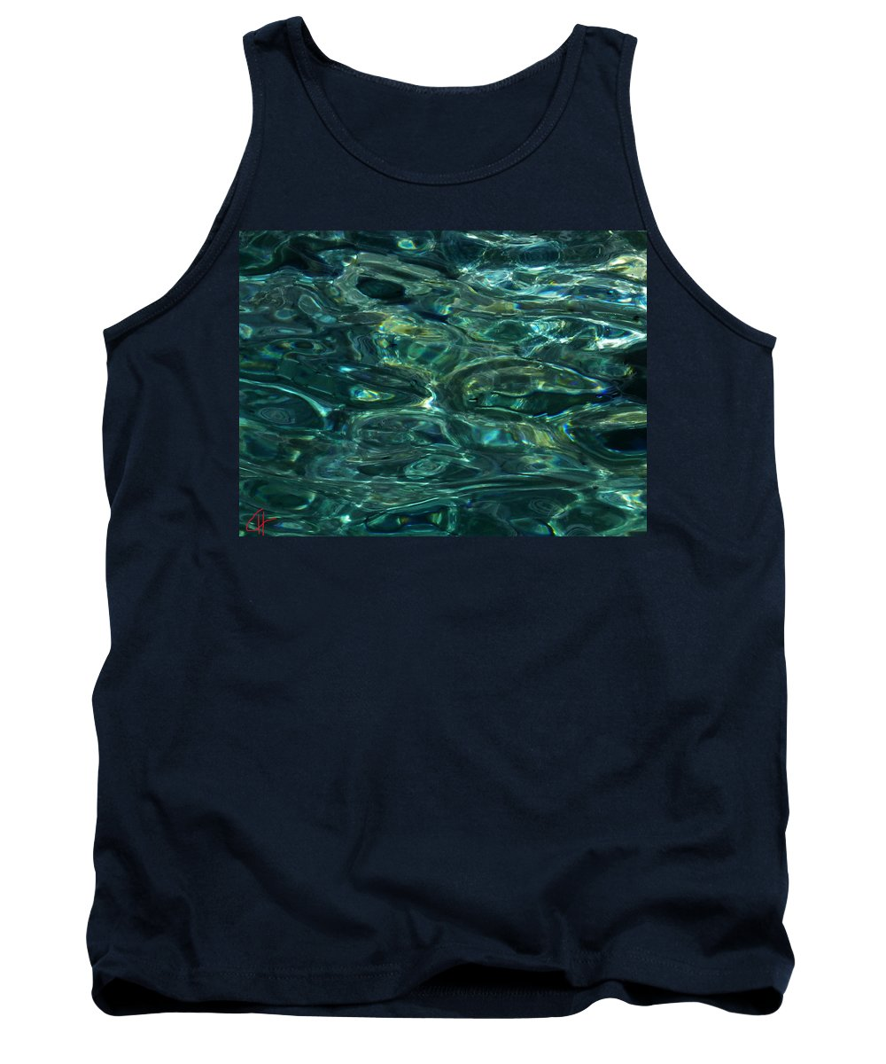 Colette Tank Top featuring the photograph Pure Santorini Island Ocean Water by Colette V Hera Guggenheim