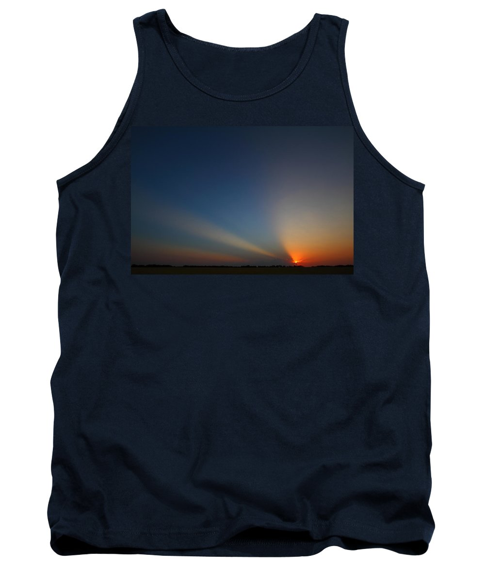 Sunrise Tank Top featuring the photograph Brazos River 2am-107649 by Andrew McInnes
