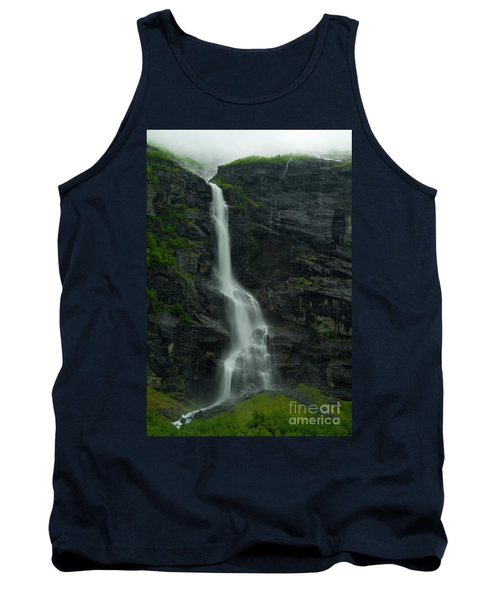 Long Exposure Tank Top featuring the photograph Rauma County Waterfall by Benjamin Reed