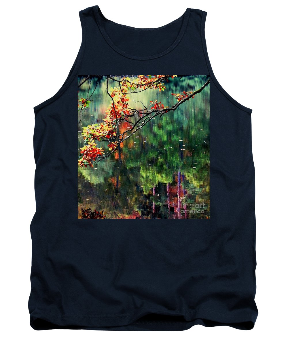 Reflections Tank Top featuring the photograph Reflection Of Autumn by Callan Art
