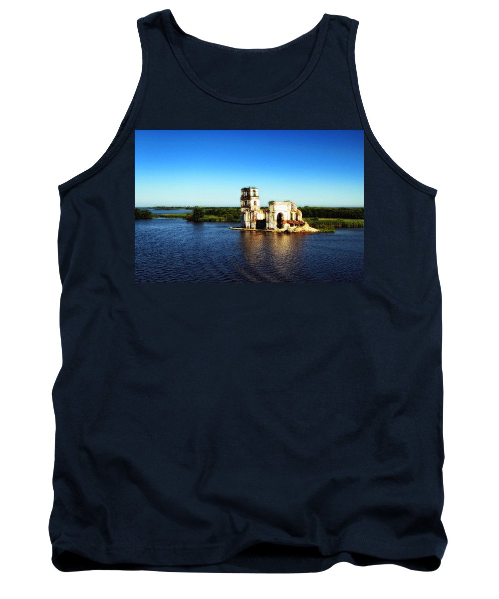 St. Basils Cathedral Tank Top featuring the photograph River Ruins by Linda Dunn