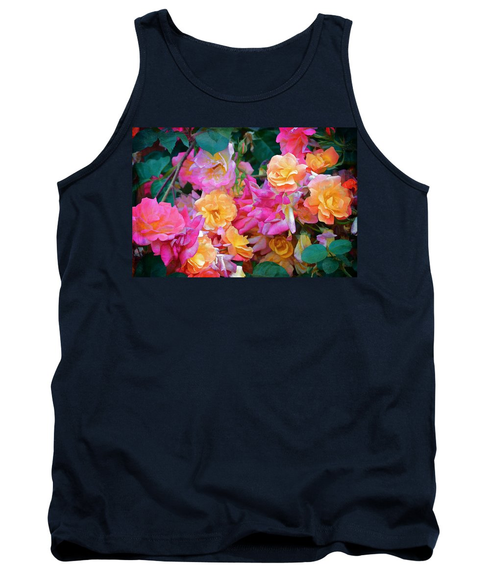 Floral Tank Top featuring the photograph Rose 304 by Pamela Cooper