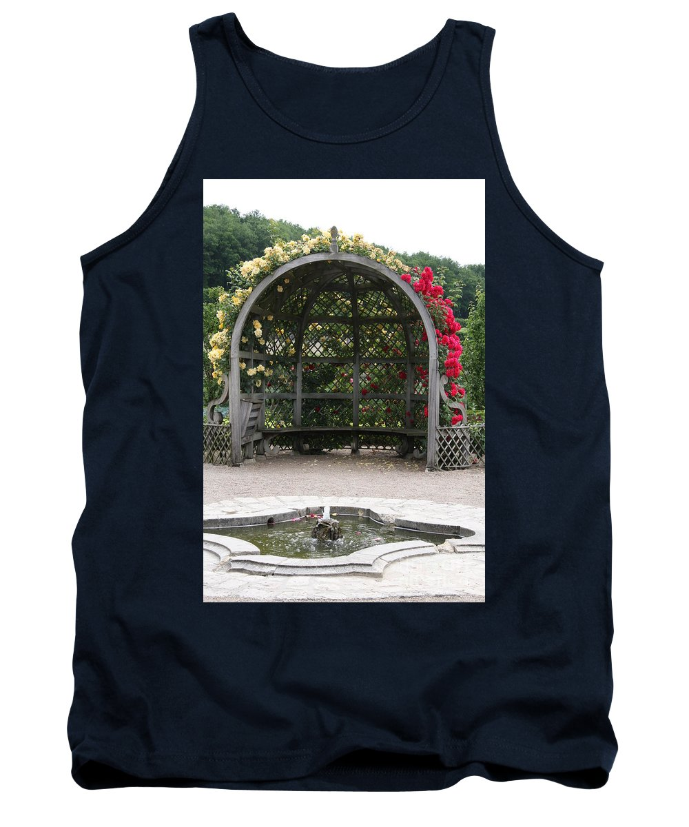 Roses Tank Top featuring the photograph Rose Pavilion At Chateau Villandry by Christiane Schulze Art And Photography
