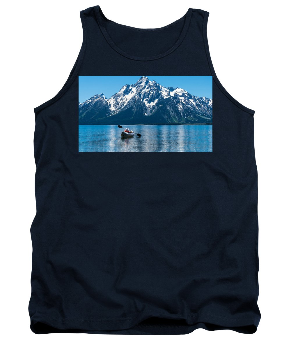 Grand Teton Tank Top featuring the photograph Row Your Boat by Kristopher Schoenleber