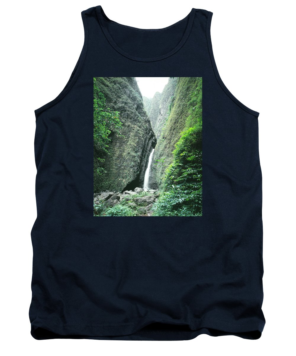 Sacred Falls Tank Top featuring the photograph 100450-sacred Falls by Ed Cooper Photography