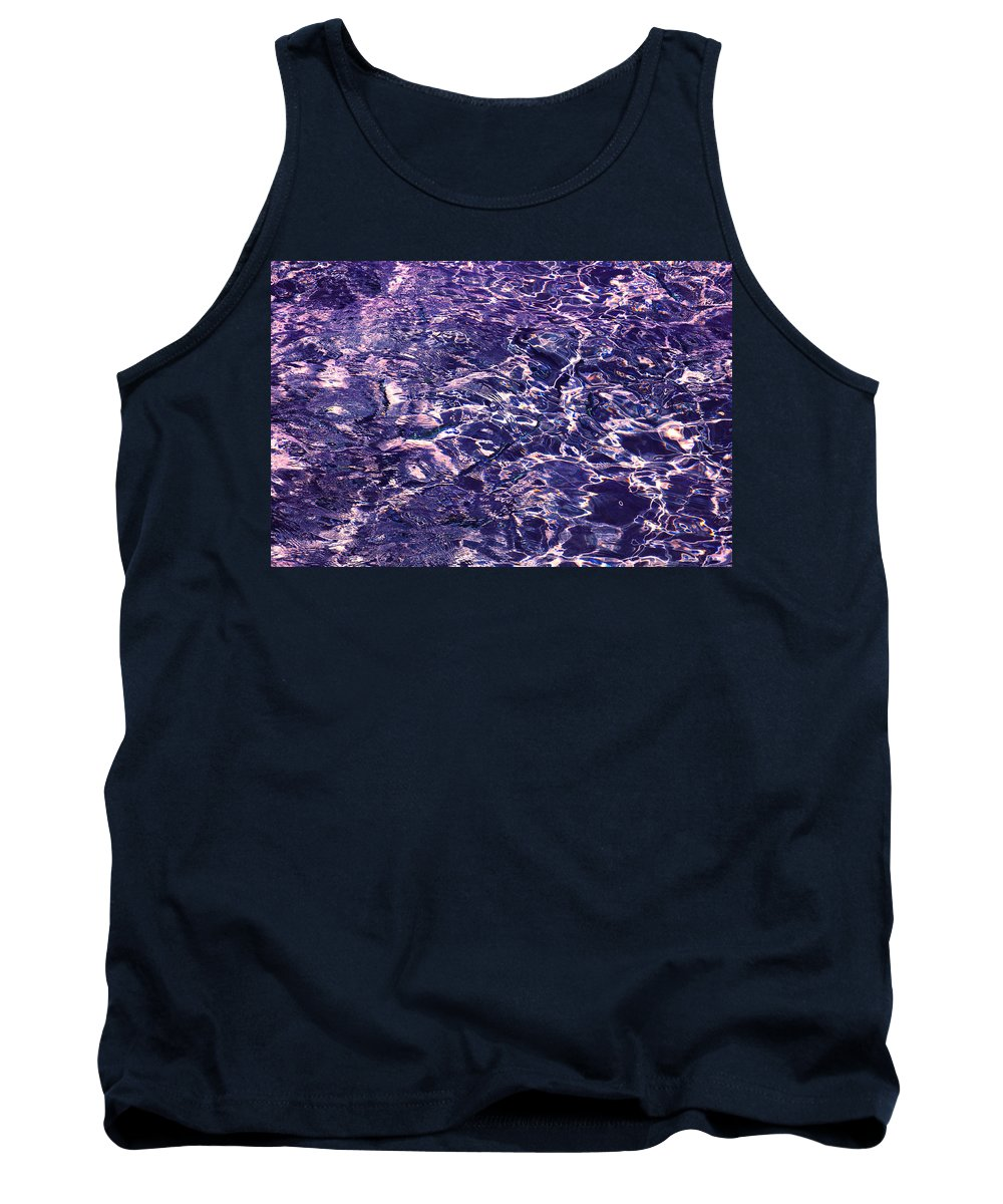 Sapphire Tank Top featuring the photograph Sapphire Flow. Feng Shui by Jenny Rainbow