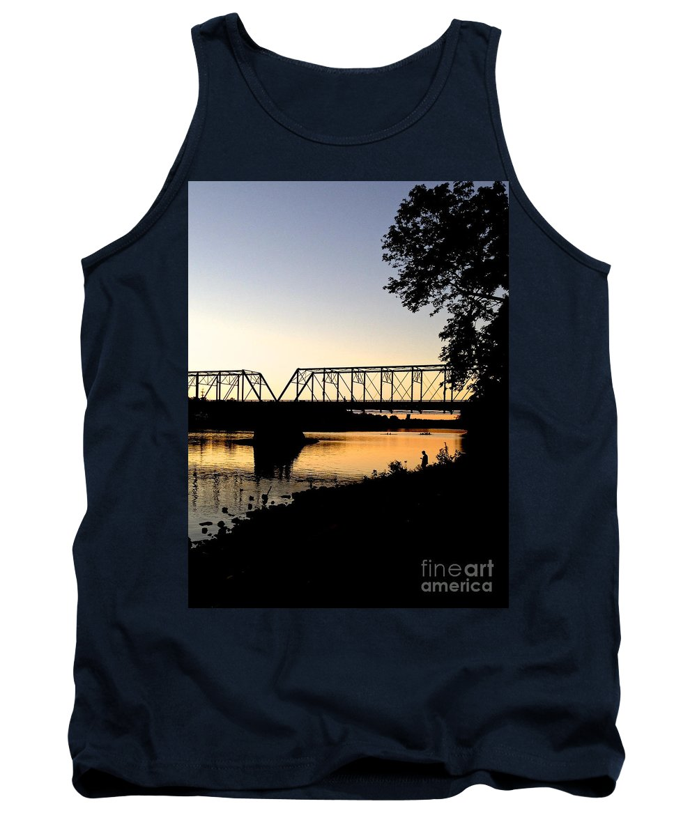 Boats Tank Top featuring the photograph September Sunset On The River by Christopher Plummer