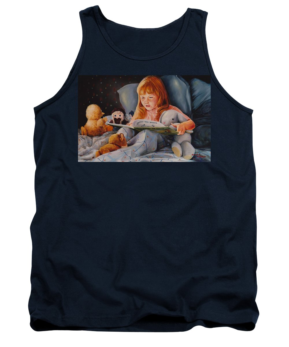Child Tank Top featuring the painting Shaina's Friends by Duane R Probus