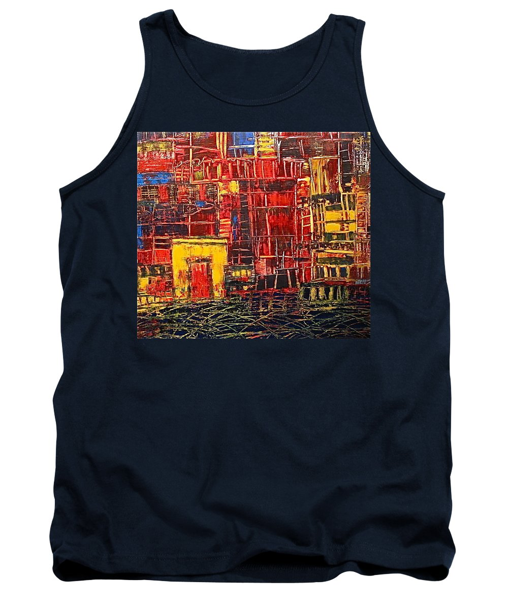 China Tank Top featuring the painting Shanghaied by Janice Nabors Raiteri
