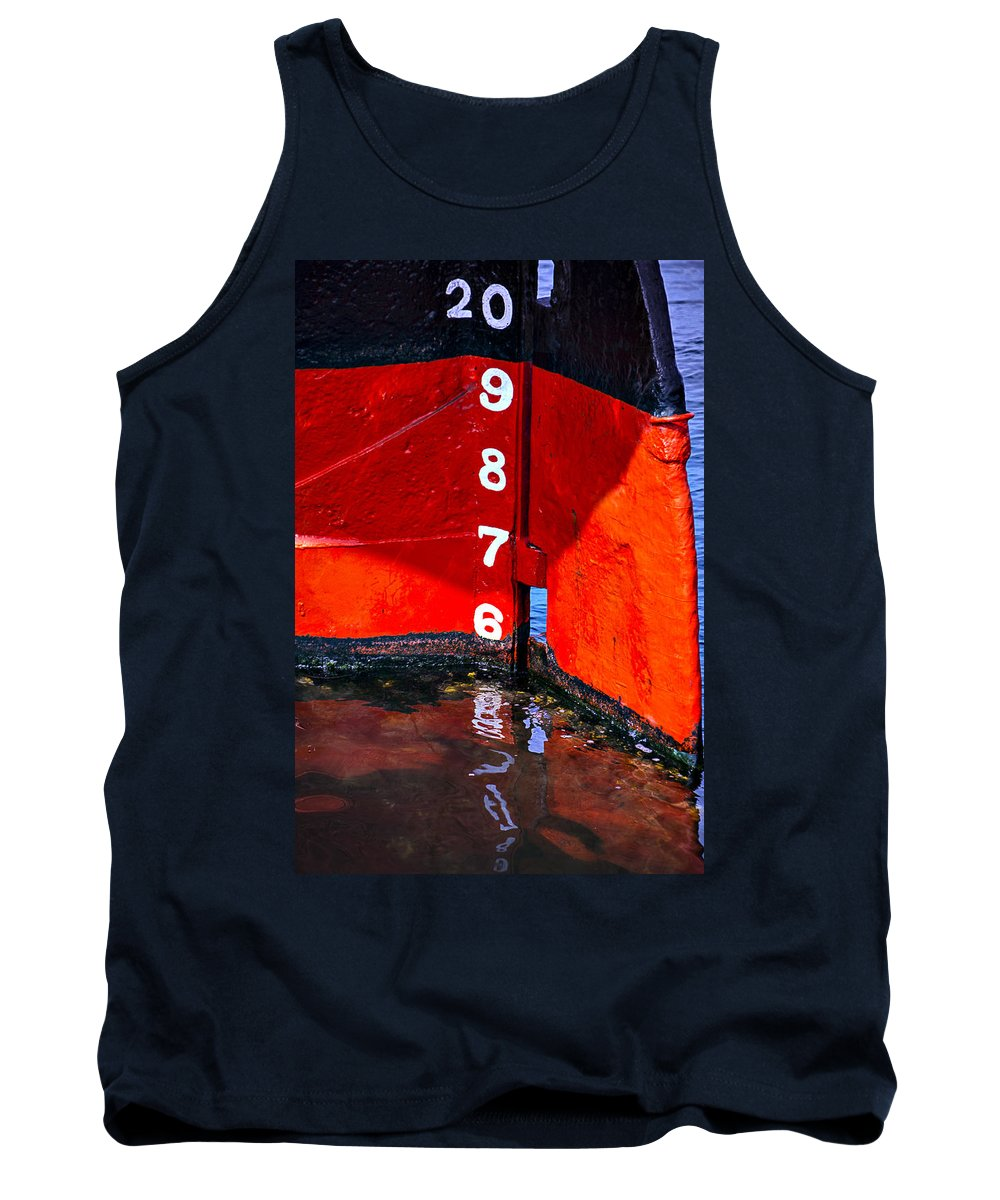 Ship Tank Top featuring the photograph Ship Waterline Numbers by Garry Gay