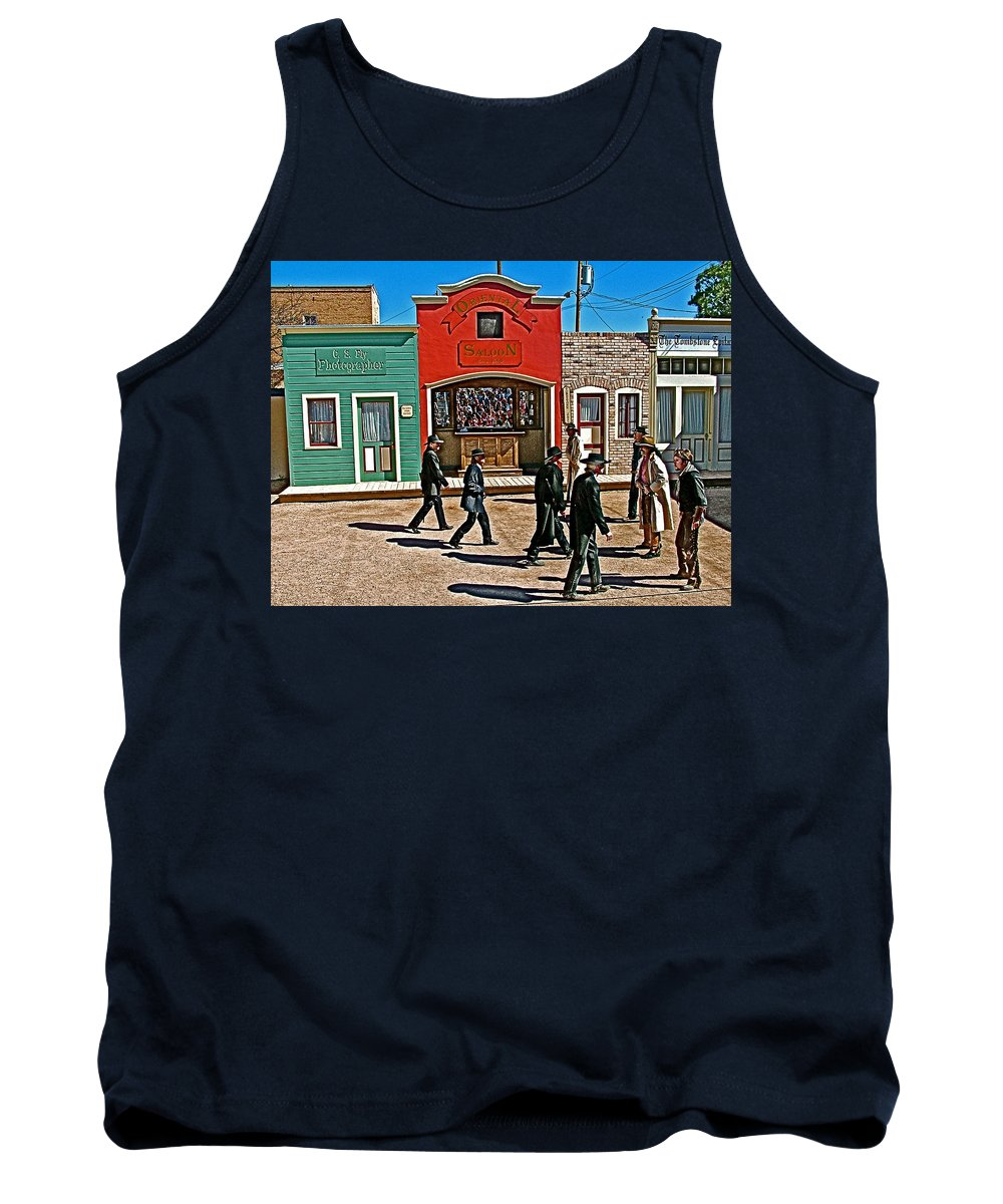 Shootout At The Ok Corral In Tombstone Tank Top featuring the photograph Shootout At The Ok Corral In Tombstone-arizona by Ruth Hager