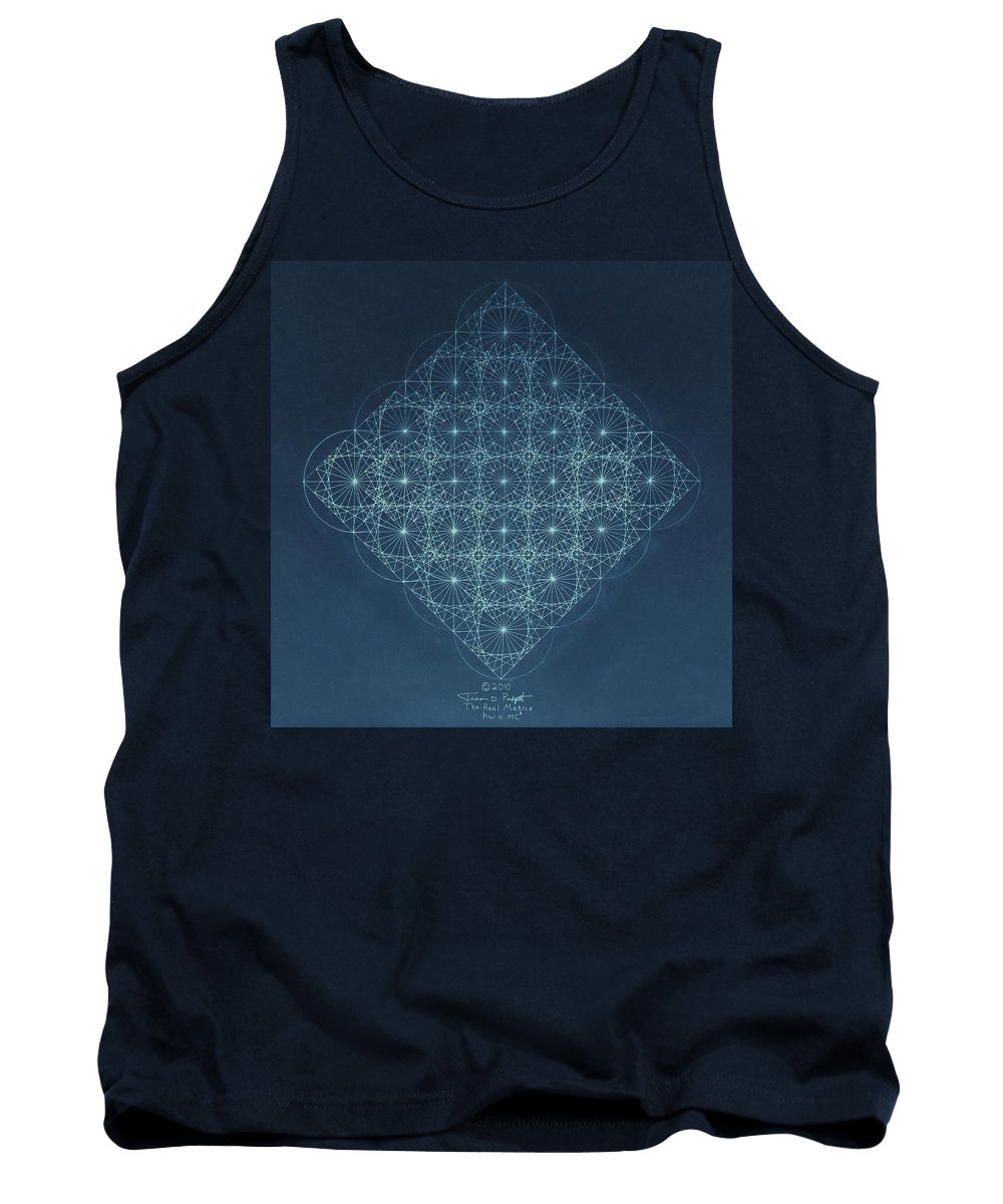 Fractal Tank Top featuring the drawing Sine Cosine And Tangent Waves by Jason Padgett