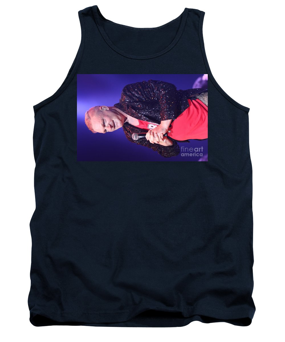Singer Tank Top featuring the photograph Singer Andy Bell by Concert Photos