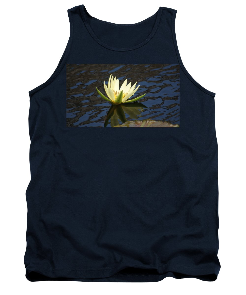 White Tank Top featuring the photograph Sky Reflections by Rob Luzier