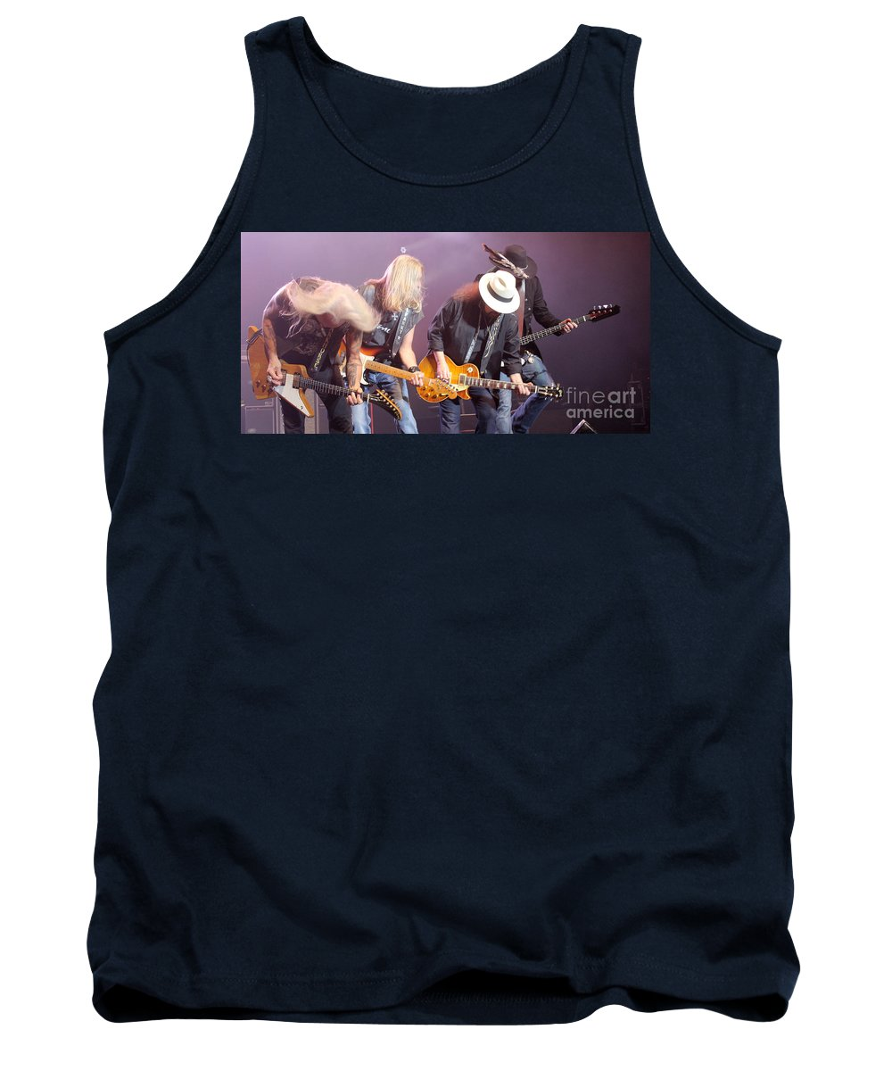 Lynyrd Skynyrd Tank Top featuring the photograph Skynyrd-group-7638 by Gary Gingrich Galleries