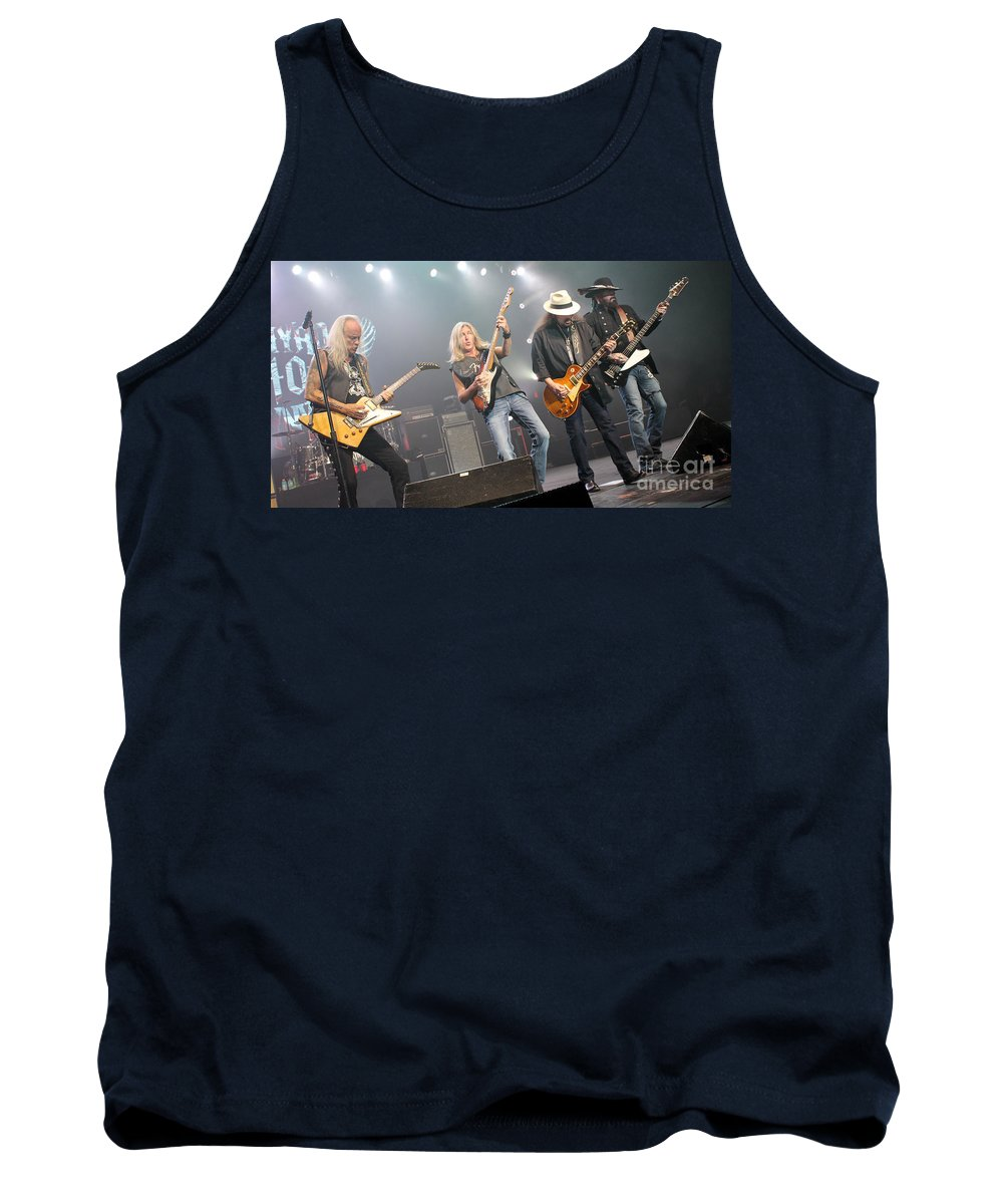 Lynyrd Skynyrd Tank Top featuring the photograph Skynyrd-group-7670 by Gary Gingrich Galleries