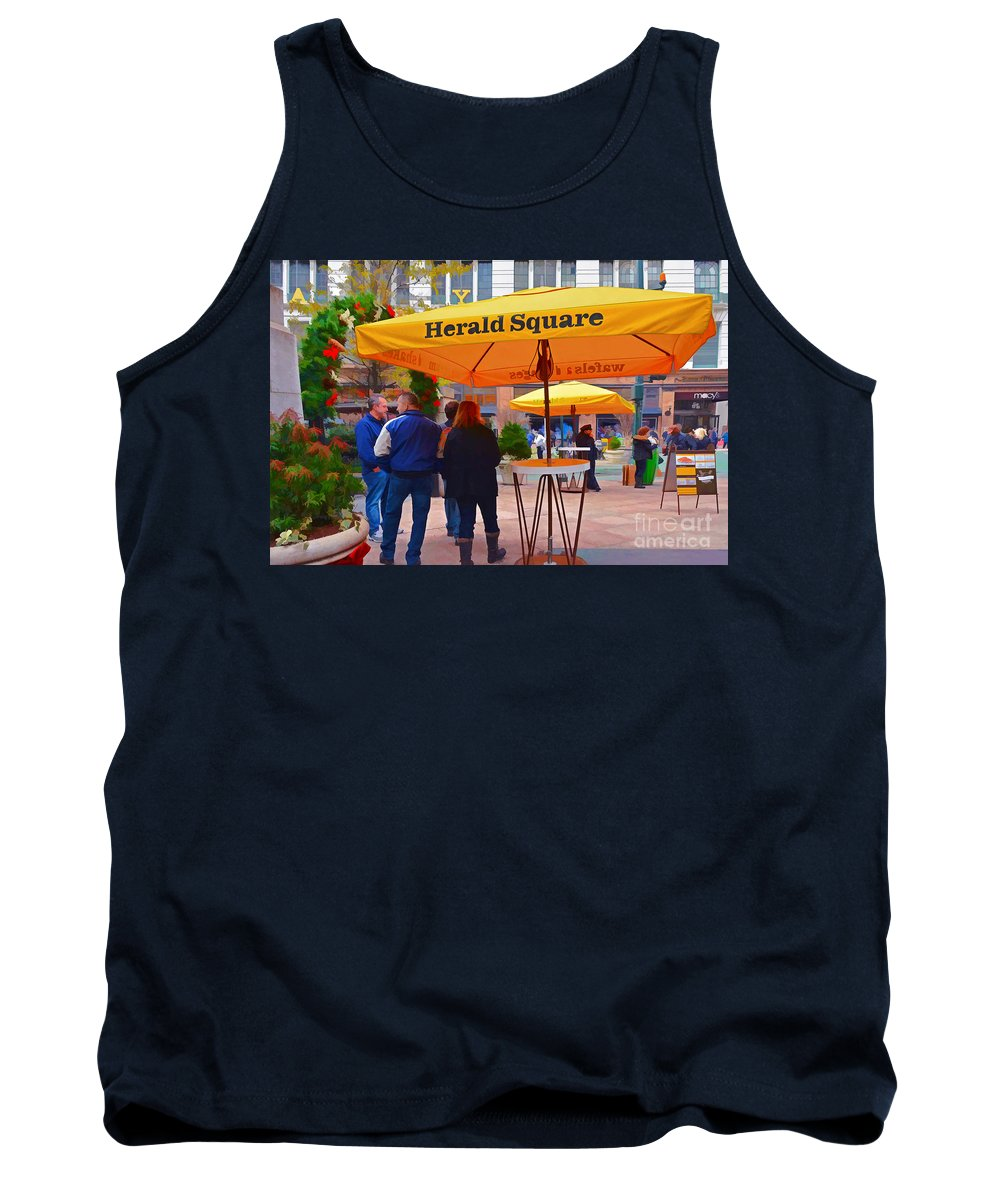 Herald Square Nyc Tank Top featuring the photograph Slice Of Life Nyc-herald Square by Regina Geoghan