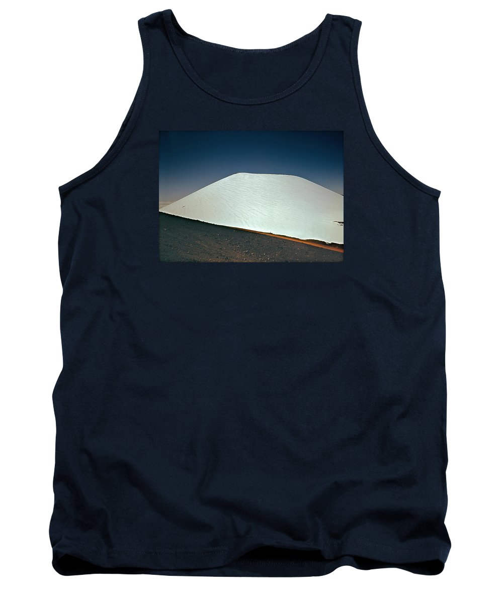 Snow Tank Top featuring the photograph 100913-snow Covered Hawaiian Mountain by Ed Cooper Photography