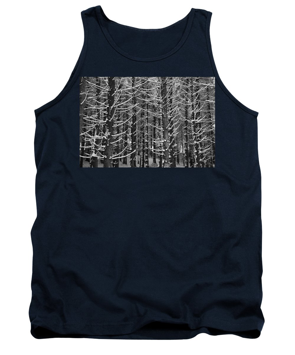 Winter Tank Top featuring the photograph Snow Covered Trees by Chevy Fleet