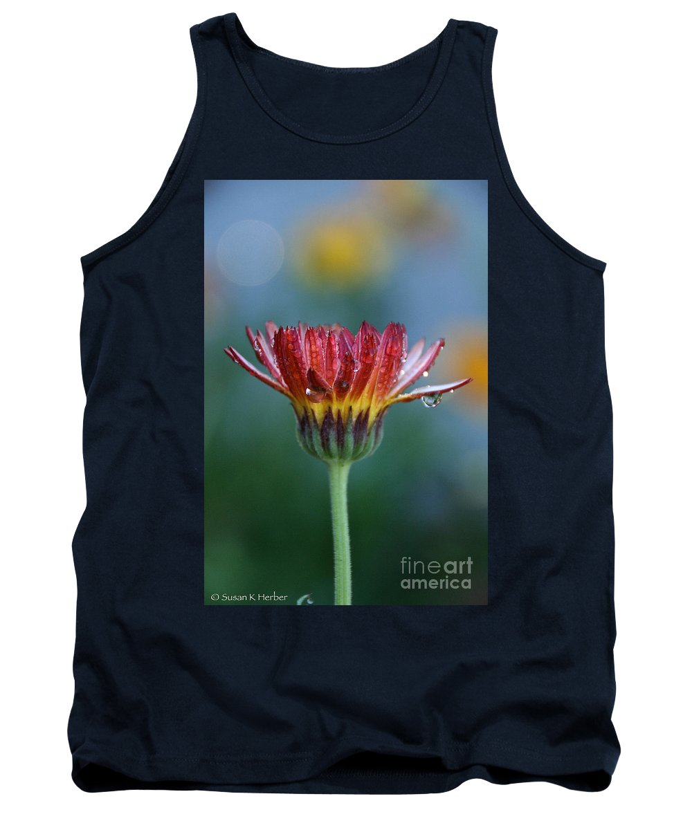 Flower Tank Top featuring the photograph Solitary Moment by Susan Herber
