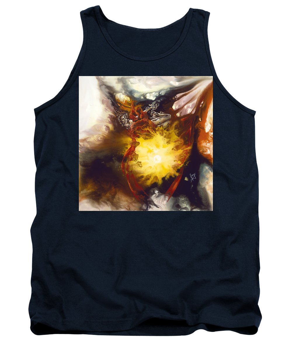 Source Of Strenght Tank Top featuring the painting Source Of Strength by Karina Llergo