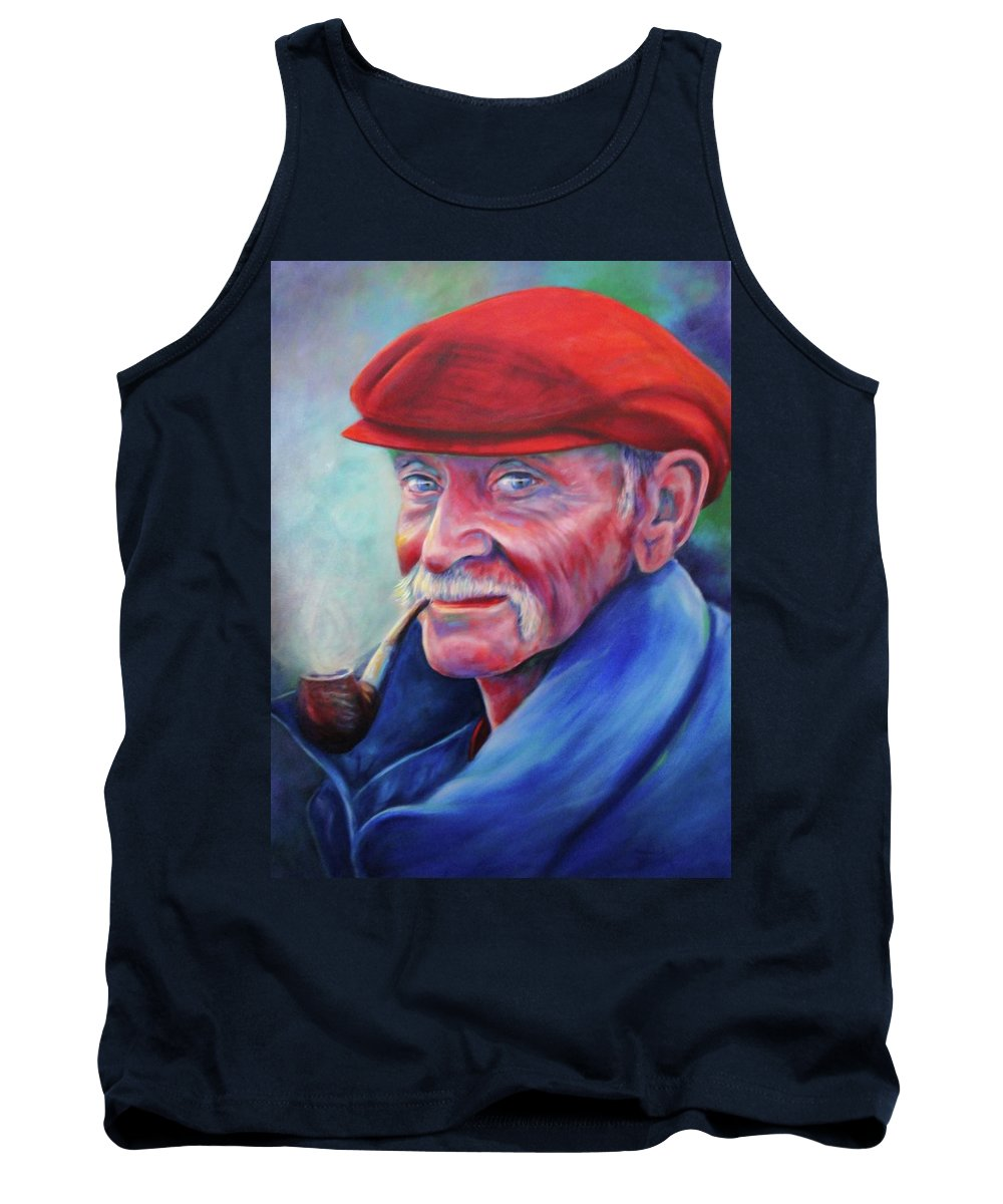 Portrait Tank Top featuring the painting St. Francis by Shannon Grissom