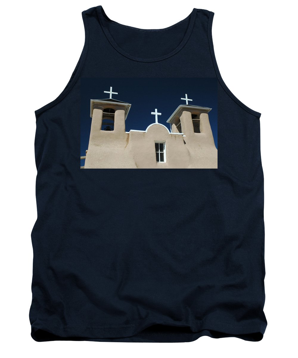 Taos Tank Top featuring the photograph St. Francis Taos by Michael Kirk