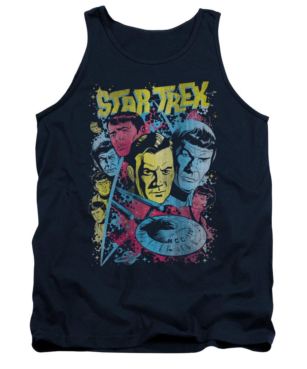 Star Trek Tank Top featuring the digital art Star Trek - Classic Crew Illustrated by Brand A