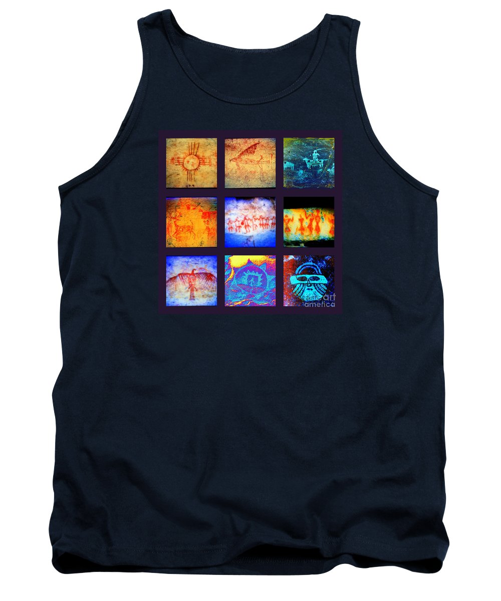Pictographs Tank Top featuring the photograph Stories On Stone by Joe Jake Pratt