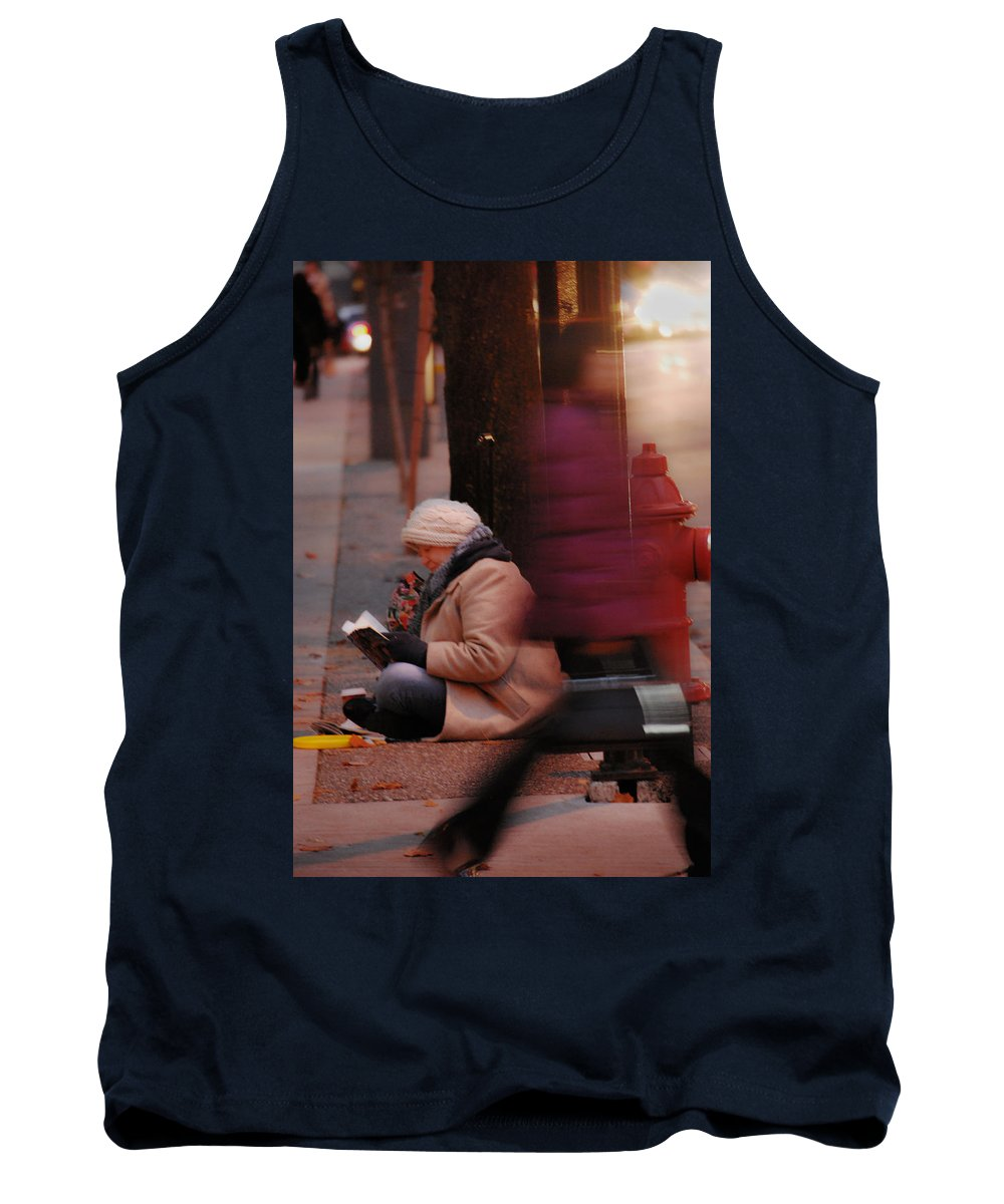 Street Photography Tank Top featuring the photograph Stories That Leave by The Artist Project